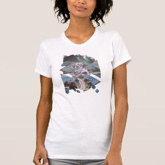 Vintages Blumen-Mädchen T-Shirt