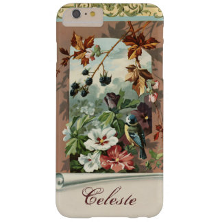Vintages Blumen mit Vogel und BlackBerry Barely There iPhone 6 Plus Hülle