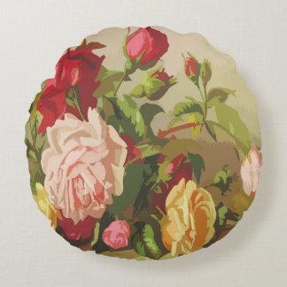 Vintages Blumen Rundes Kissen