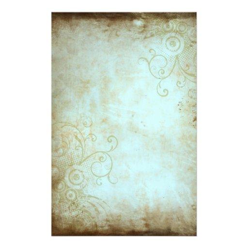 vintages blumenbriefpapier bedrucktes papier zazzle. Black Bedroom Furniture Sets. Home Design Ideas