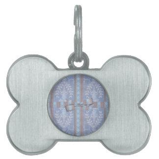 Vintages Blumendekor-Tapeten-Muster blaues Brown Tiermarke