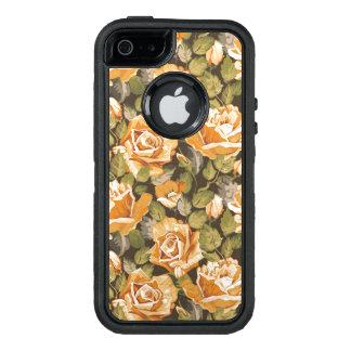 Vintages Blumenmuster der gelben Rosen OtterBox iPhone 5/5s/SE Hülle