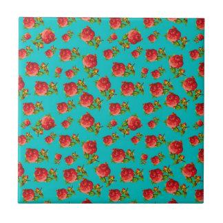 Vintages Blumenmuster Kleine Quadratische Fliese
