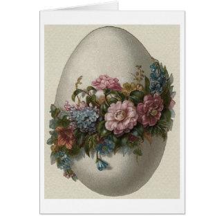 Vintages BlumenOSTEREI! Vintage Ostern-Karte Karte