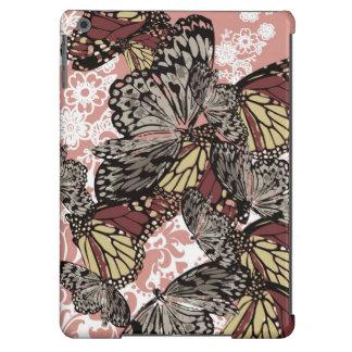 Vintages Blumenschmetterlings-Muster iPad Air Hülle