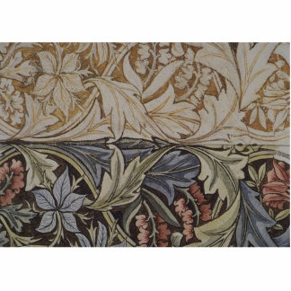 Vintages Blumentapisserie-Antiken-Gewebe-Muster Fotoskulptur Magnet