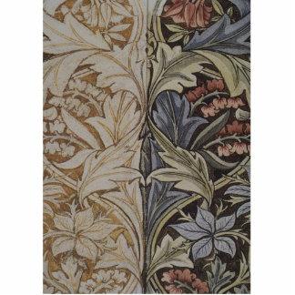 Vintages Blumentapisserie-Antiken-Gewebe-Muster Freistehende Fotoskulptur