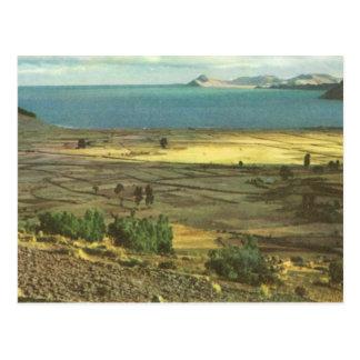Vintages Bolivien, Titicaca-See Postkarte