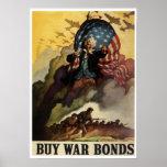 Vintages Bondplakat des Kriegs-WW2 Plakatdrucke