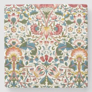 Vintages botanisches Morris Entwurfs-Steingut Steinuntersetzer