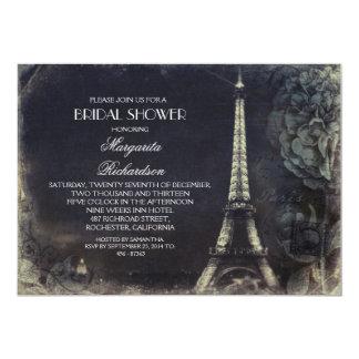 Vintages Brautparty Turms Paris Eiffel 12,7 X 17,8 Cm Einladungskarte