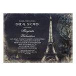 Vintages Brautparty Turms Paris Eiffel Ankündigungskarte