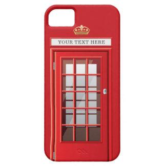 Vintages britisches rotes Telefonzelle-Monogramm iPhone 5 Hülle