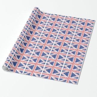 Vintages BRITISCHES Verpackungs-Papier Geschenkpapier