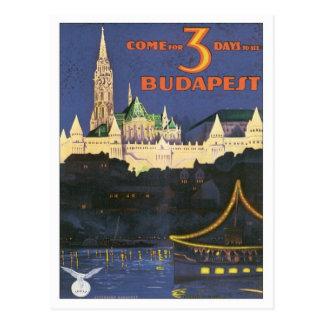 Vintages Budapest Ungarn Postkarte