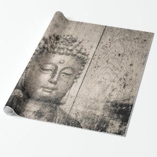 Vintages Buddha-Yoga Geschenkpapier