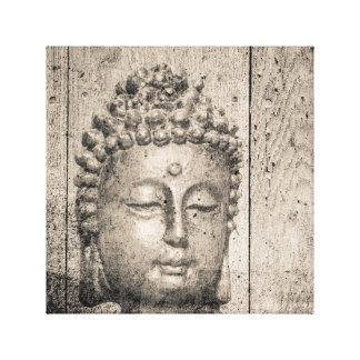 Vintages Buddha-Yoga Leinwanddruck
