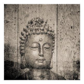 Vintages Buddha-Yoga Poster