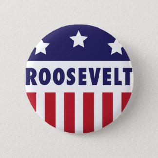 Vintages Campagn Logo Roosevelts Runder Button 5,7 Cm