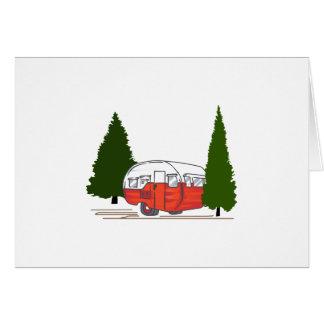 Vintages Camping Karte