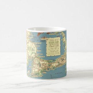 Vintages Cape Cod Map (1940) Kaffeetasse