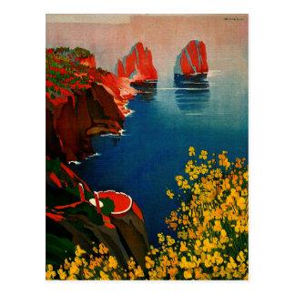 Vintages Capri L'Isola Del Sole Italien Postkarten