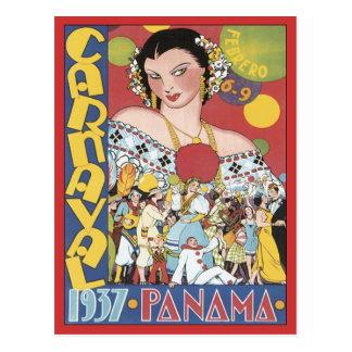 Vintages Carnaval Panama 1937 Postkarte