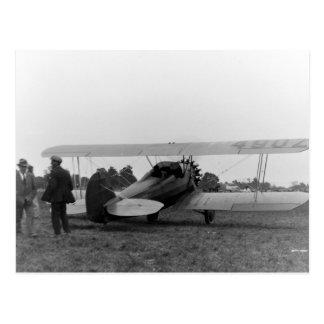 Vintages Cessna-Zwanzigerjahre Flugzeug Postkarte