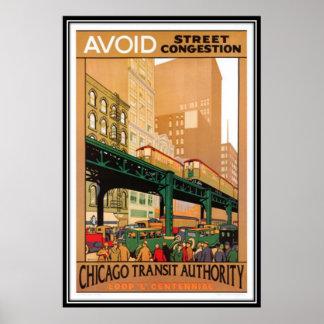 Vintages Chicago USA - Plakatdruck