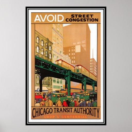 Vintages Chicago, USA - Plakatdruck