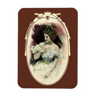 Vintages Christy Mädchen, antikes Brautporträt Magnet
