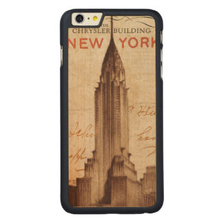 Vintages Chrysler-Gebäude in New York Carved® Maple iPhone 6 Plus Hülle