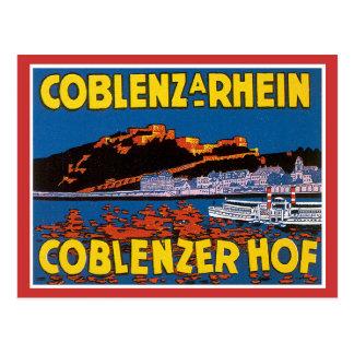 Vintages Coblenzer Hof Hotel Deutschland Postkarte