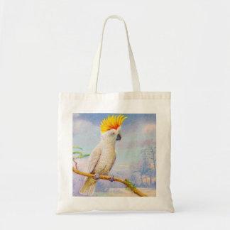 Vintages Cockatoo-Zeichnen Einkaufstaschen