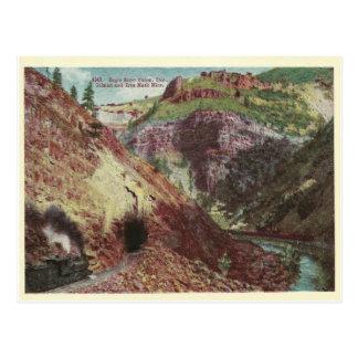 Vintages Colorado-Bergwerk Postkarte