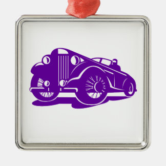 Vintages Coupé-niedriger Winkel Retro Silbernes Ornament