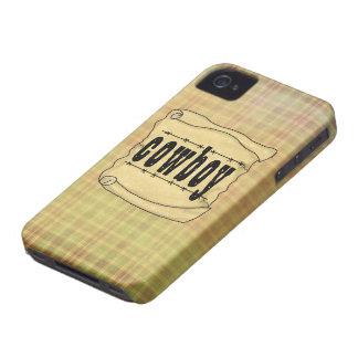 Vintages Cowboy-BlackBerry des Papier-w/Scroll iPhone 4 Hüllen