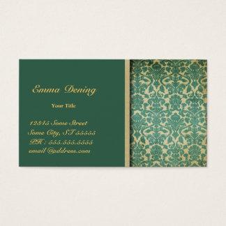 Vintages Damast-Grün Visitenkarte