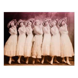 Vintages Damentanzen Postkarte