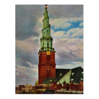 Vintages Dänemark, Kopenhagen, die Kirche unseres Postkarte