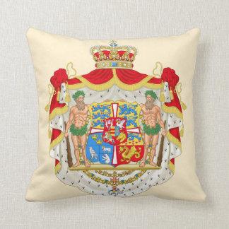 Vintages dänisches königliches Wappen von Dänemark Kissen