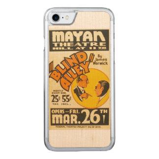 """Vintages darstellendes Kunst-""""blinde Gasse"""" WPA Carved iPhone 8/7 Hülle"""