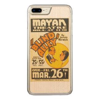 "Vintages darstellendes Kunst-""blinde Gasse"" WPA Carved iPhone 8 Plus/7 Plus Hülle"