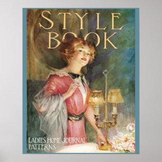 Vintages das Zuhause-Zeitschriften-Plakat der Dame Poster