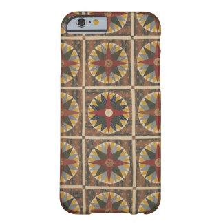 Vintages der Kompass-Steppdecken-Muster des bunten Barely There iPhone 6 Hülle