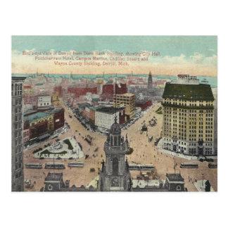 Vintages Detroit Michigan Postkarte