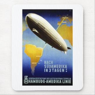 Vintages deutsches Reise-Plakat Mauspad