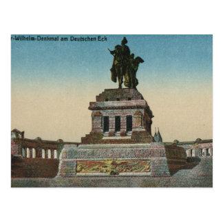 Vintages Deutschland, Koblenz, Deutches Eck, Postkarte