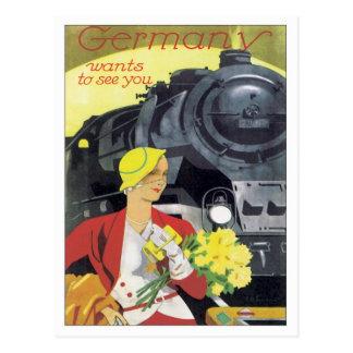 Vintages Deutschland Postkarte