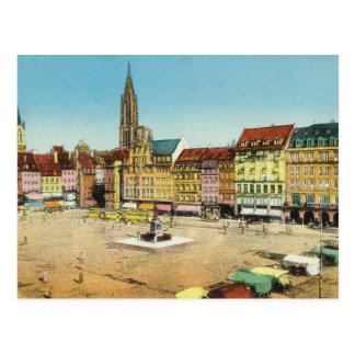 Vintages Deutschland, Strassburg, KleberPlatz Postkarte
